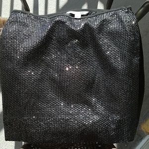 DvF black sequin skirt size 8